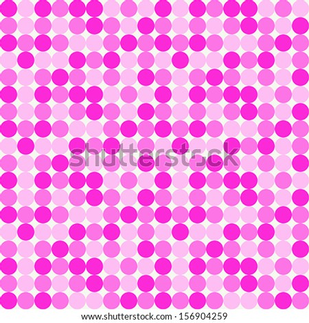 Seamless Pink Dot Pattern - stock vector