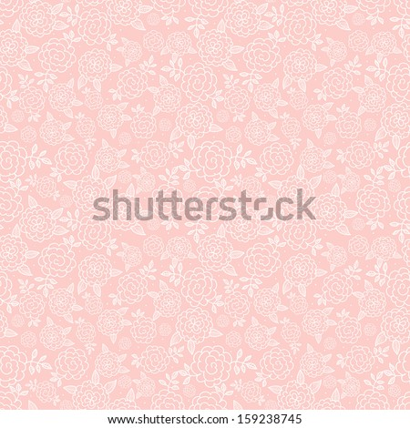 Seamless pink floral background with roses. Texture with flowers. Can be used for wallpaper, pattern fills, textile, web page background, surface textures. Vector illustration.  - stock vector