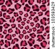 Seamless pink leopard texture pattern. EPS 8 vector illustration. - stock