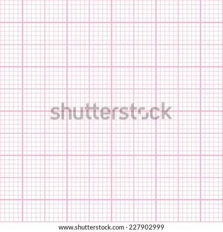 Seamless pink millimeter paper pattern - stock vector