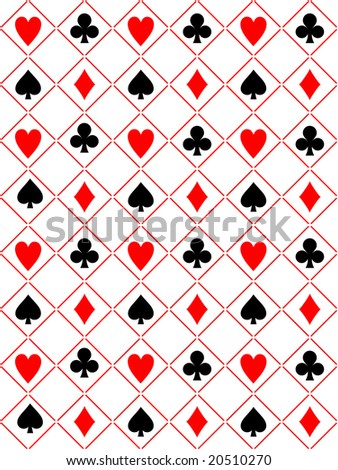 Seamless poker background vector illustration - stock vector