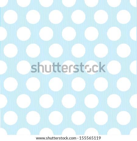 seamless polka dot pattern - stock vector
