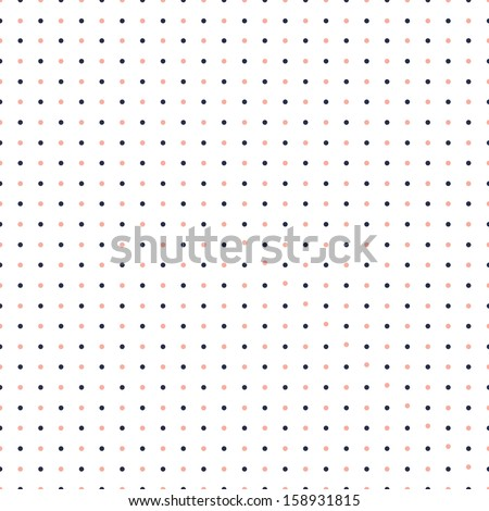 Seamless polka dot pattern. - stock vector