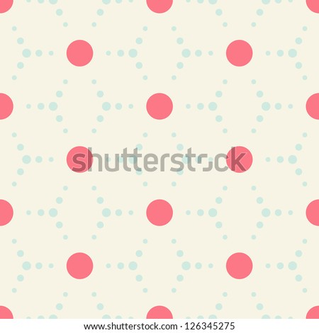 Seamless polka dot pattern background - stock vector