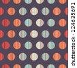 Seamless polka dot pattern background retro texture - stock vector