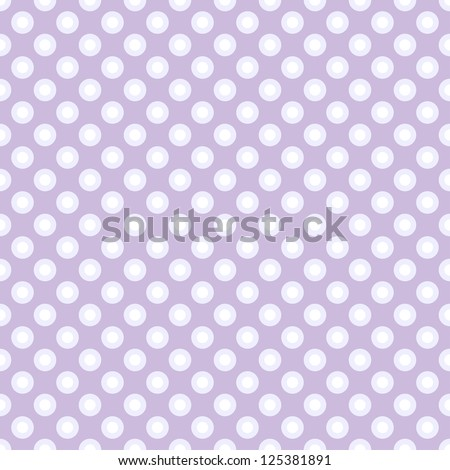 Seamless polka dot pattern in retro style, subtle colors. Can be used to fabric design, wallpaper, decorative paper, scrapbook albums, web design, etc. Swatches of seamless pattern included in file - stock vector