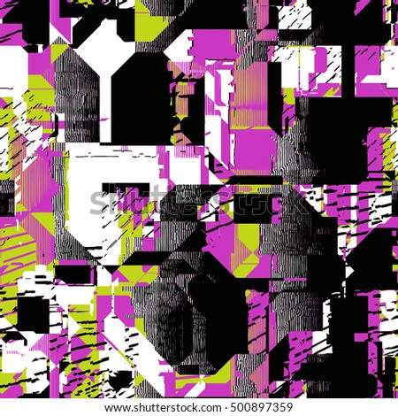 seamless psychedelic glitch pattern