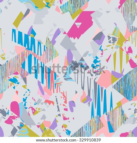 seamless psychedelic pattern - stock vector