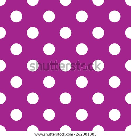 seamless purple polka dot background - stock vector