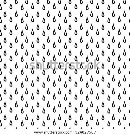 Seamless rain background/ Vector illustration - stock vector