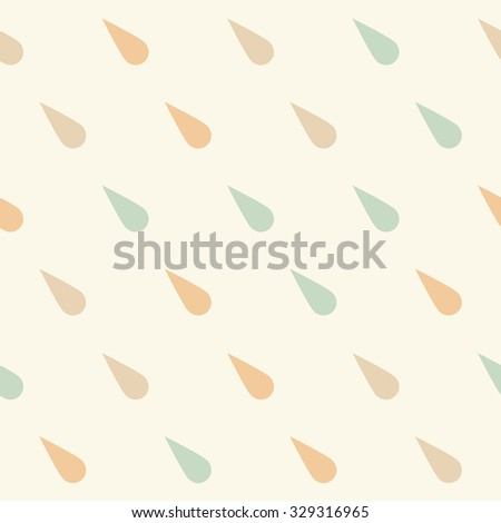 Seamless Rain Drop Pattern Stylish Hipster Stock Vector