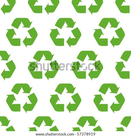 Seamless recycle background. Vector pattern. - stock vector