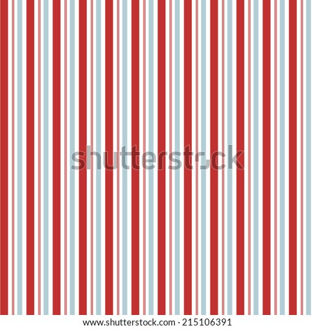 Seamless Red and Blue Vector Stripes Background Pattern - stock vector
