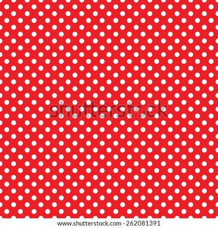 seamless red polka dot background - stock vector