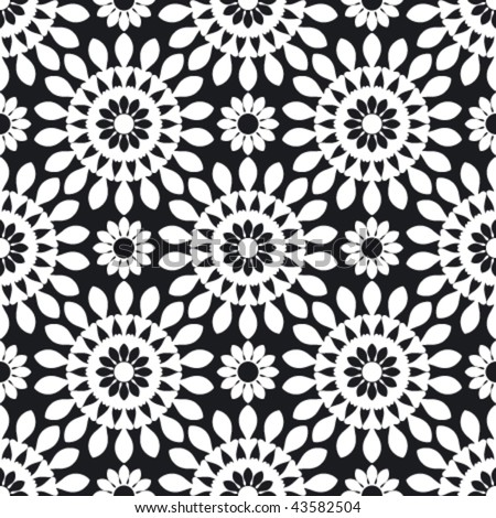 Seamless repeat pattern, abstract background - stock vector
