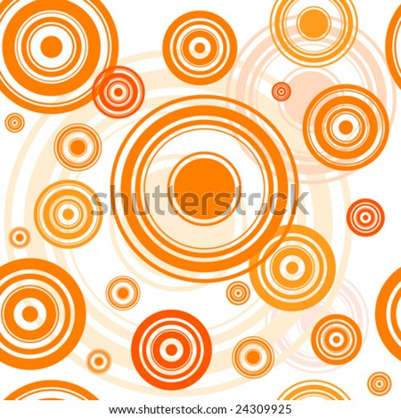 seamless retro circle background - stock vector