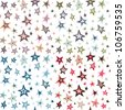 Seamless retro fifties stars design pattern - stock vector