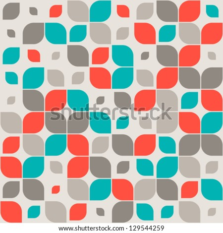 Seamless retro geometric pattern. - stock vector