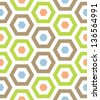 Seamless Retro Modern Hexagon Background Pattern - stock vector