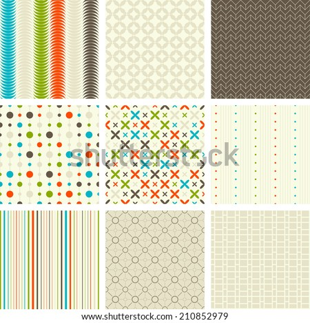 seamless retro patterns collection