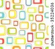 Seamless retro squares in bright colors - stock vector