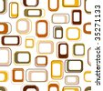 Seamless retro squares in earth tones - stock vector