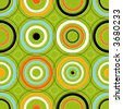 Seamless Retro-stylized Concentric Circles. Tileable, seamless easy-edit layered vector file. - stock vector