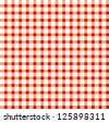 Seamless retro white-red square tablecloth - stock photo