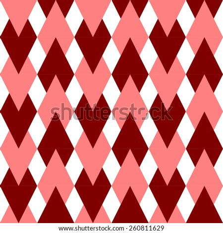 Seamless Rhombus Pattern. Vector Background - stock vector