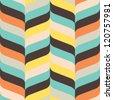 Seamless ribbon chevron background pattern - stock vector