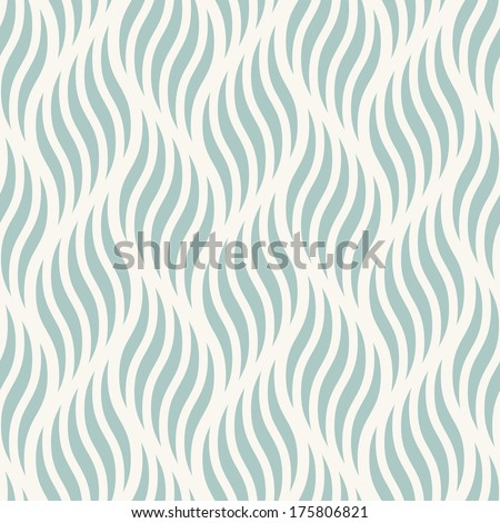 Seamless ripple pattern. Repeating vector texture. Wavy graphic background - stock vector