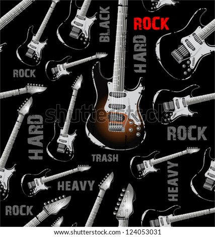 Seamless Rock background - stock vector