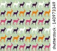 seamless roe pattern design. vector illustration - stock vector
