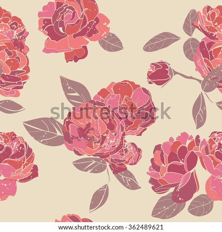 Seamless rose pattern