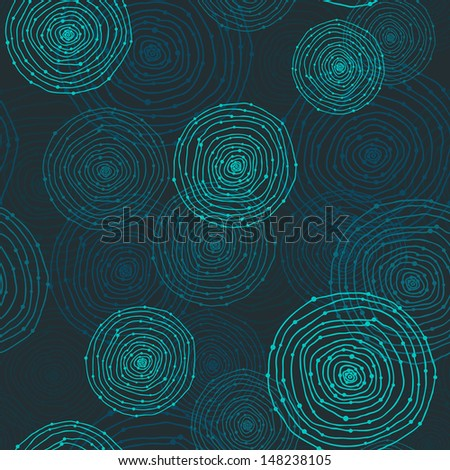 seamless round shapes - stock vector