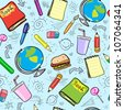 Seamless school background, back to school pattern - stock