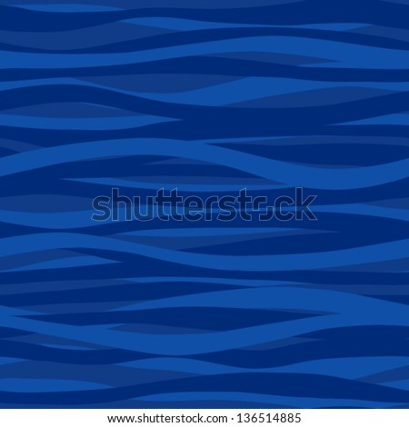 Seamless sea pattern with waves. - stock vector