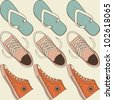 seamless shoes - stock vector
