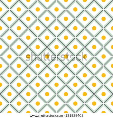 Seamless simple geometric pattern. vector illustration. - stock vector