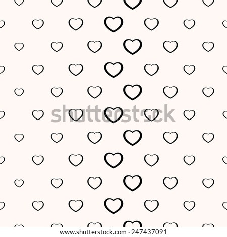 Seamless simple minimalistic heart background Valentine day  - stock vector