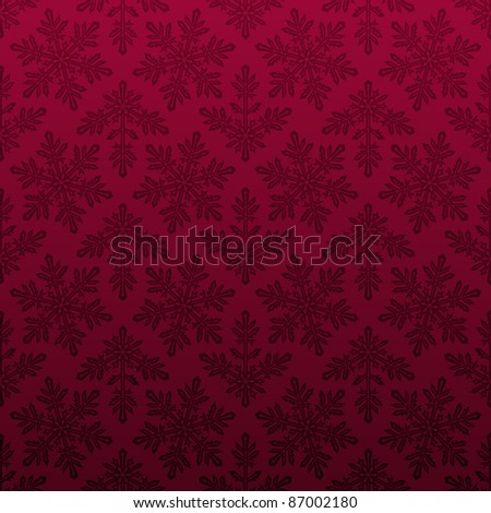 Seamless snowflake pattern - stock vector