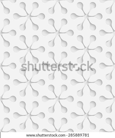Seamless Snowflake Pattern. Vector Soft Background. Regular White Texture - stock vector