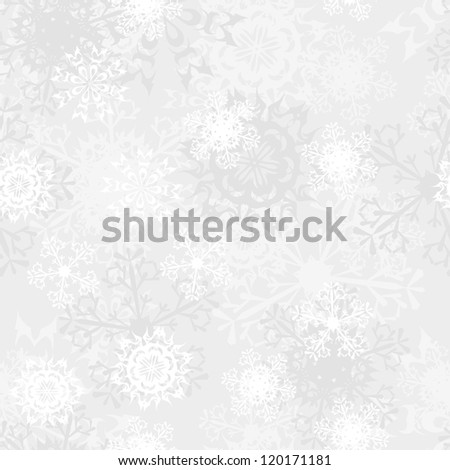 Seamless snowflake patterns. Fully editable EPS 8 vector illustration. - stock vector