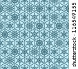 Seamless snowflakes background geometric pattern. winter theme. - stock photo