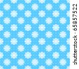Seamless snowflakes pattern - stock vector