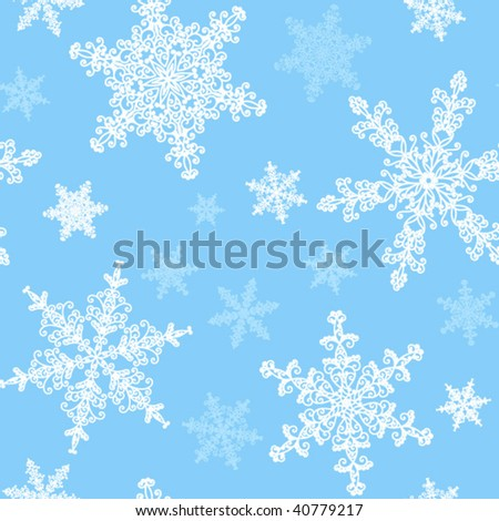 Seamless snowflakes pattern. - stock vector