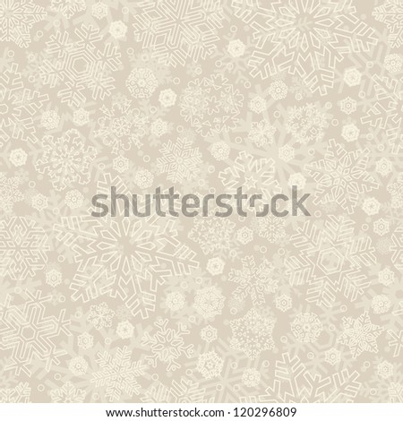 seamless snowflakes pattern, vector eps8 - stock vector
