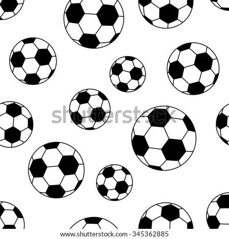 Seamless soccer ball pattern background. vector illustration - stock vector