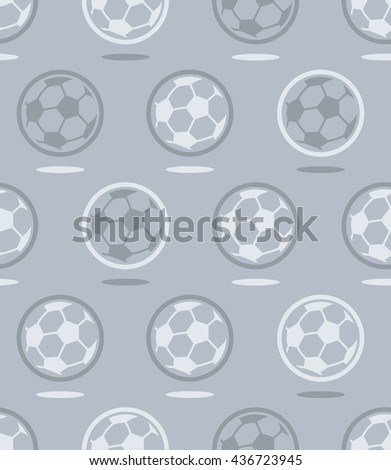 Seamless soccer ball vector pattern over gray background for black and white or grayscale sports related pattern - stock vector