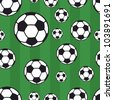 seamless soccer pattern, background - stock vector